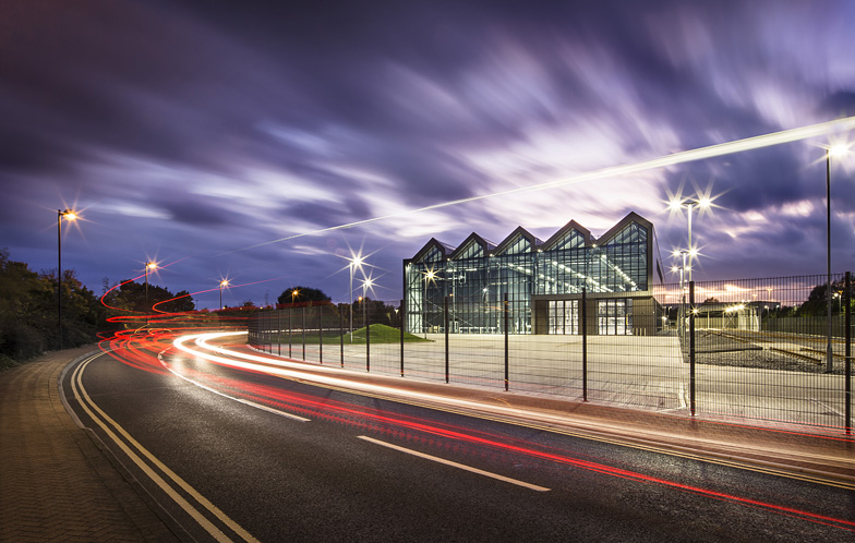 Architecture-Doncaster-high-speed-rail-light-trail-back