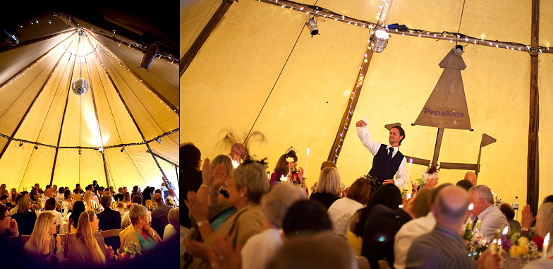Wedding-speech-laughter-marquee detail