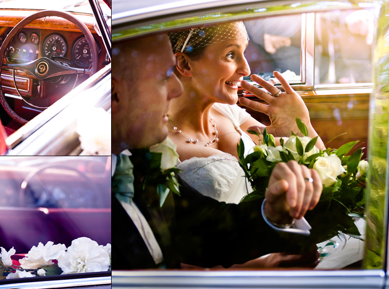 Wedding-Ben+Helen-jaguar-car-detail