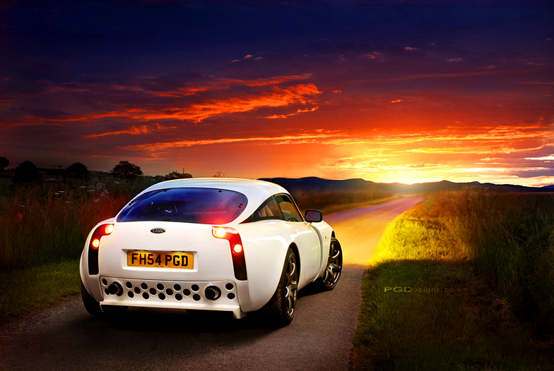 Automotive-TVR-T350-sunset